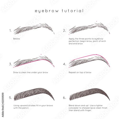 Eyebrow Tutorial. How to make up eyebrow - 223501310