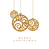 Vector Christmas greeting card design - 223508106