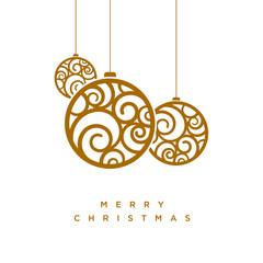 Vector Christmas greeting card design