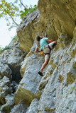 Climber on a wall - 223511700