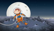 A monkey astronaut in space - 223515903