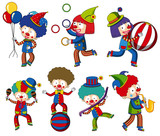A set of circus clown - 223516118