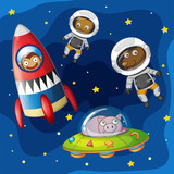 Animals exploring the space - 223516967