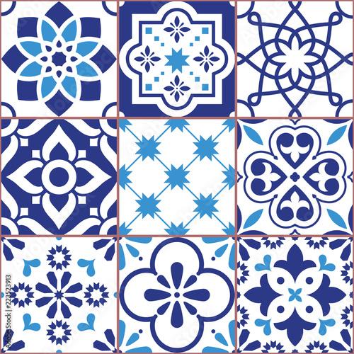 projekt-plytek-lizbony-azulejo-wektor-wzor-abstrakcyjne-i-kwiatowe-dekoracje-inspirowane-tranditional-plytek-z-portugalii-i-hiszpanii