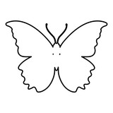 Butterfly silhouette symbol