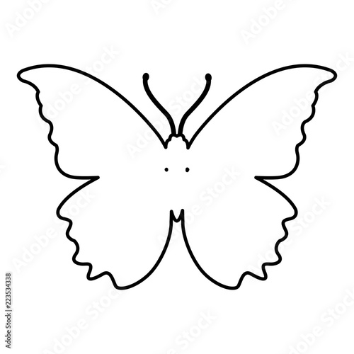 Butterfly silhouette symbol - 223534338