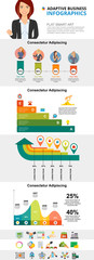 Finance and planning diagrams set for presentation slide templates. Business percentage and area charts. Planning concept can be used for annual report, advertising, flyer layout and banner design. © RedlineVector