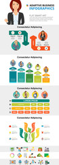 Planning infochart diagrams set for presentation slide templates. Business bar and percentage charts. Marketing concept can be used for annual report, advertising, flyer layout and banner design. © RedlineVector