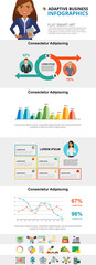 Planning infograph charts set. Business percentage and area charts for presentation slide templates. Analysis concept can be used for annual report, advertising, flyer layout and banner design. © RedlineVector