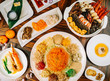 food, dinner, meal, restaurant, plate, dish, meat, table,  - 223547790