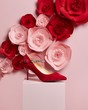 rose, flower, pink, love, valentine, gift, white, wedding, red, roses, bouquet, heart, decoration, romantic, box,