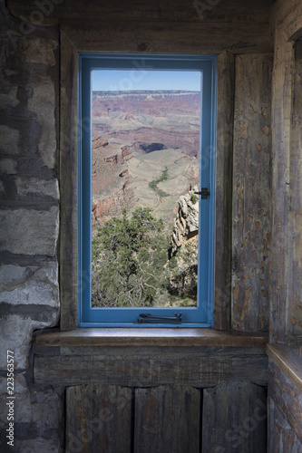 Window to a canyon view - 223563577