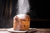 Italian Christmas cake. Panettone