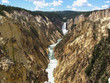 Lower falls in Yellowstone National Park, USA - 223588721