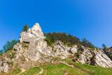 rocks in the Kobylanska valley in the Krakow-Czestochowa Upland
