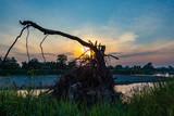 sunset on the Vistula near Krakow