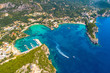 Quadro Paleokastritsa bay on Corfu island, Ionian archipelago, Greece