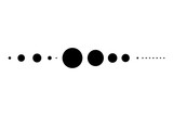 Abstract line from black circles - 223598769