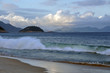 Quadro The evening waves in Copacabana
