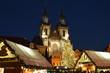 Leinwanddruck Bild - Christmas market - Old town Prague Czech republic