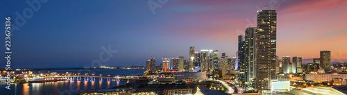 Miami downtown at night