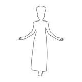 Egyptian silhouette icon, Queen Nefertiti, Cleopatra silhouette