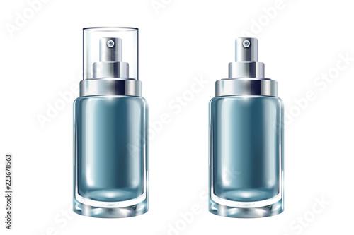 Zestaw niebieski kosmetycznych pojemników