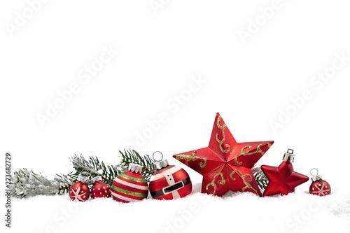Leinwandbild Motiv Weihnachten Banner