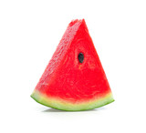pieces of refreshing watermelon on a white background - 223691312