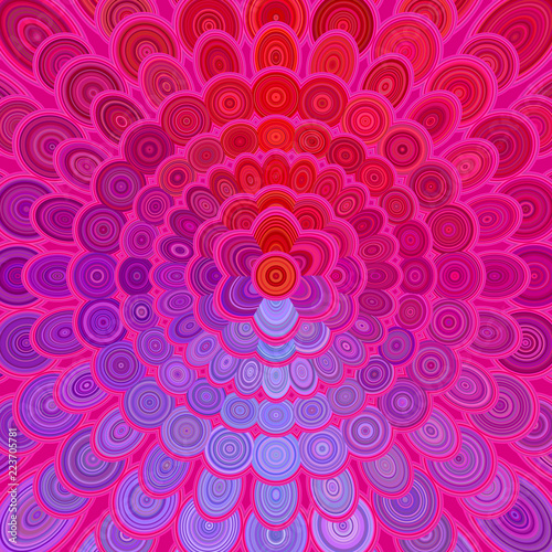 Colorful abstract flower mandala design background - vector digital art illustration