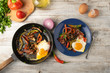 Egg and Vegetable Frying Pan - 223711727