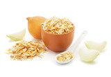 Dried onions   isolated on white background - 223712564