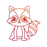 cute raccoon cartoon animal wildlife
