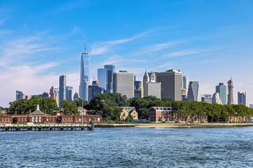 panoramic views of the New York City Manhattan