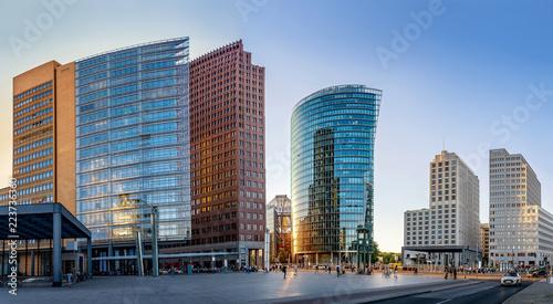 Leinwanddruck Bild panoramic view at the potsdamer platz, berlin