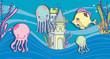 Постер, плакат: Sea animals cartoons