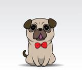 Cute cartoon dog/puppy for design element