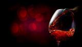 Wine on dark red