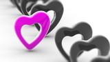 Heart icon. 3D Illustration.