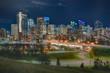 Calgary Night Skyline