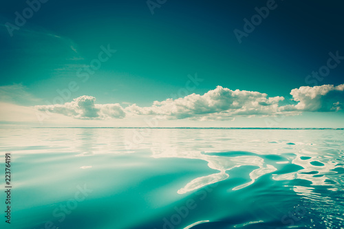 seascape sea horizon and sky. - 223764191