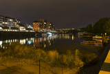 Luxury Living in Prague Marina in the Night, Holesovice, the most cool Prague District, Czech Republic - 223784501