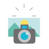 photographic camera taking photo graphic - 223788941