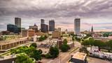 Tulsa, Oklahoma, USA downtown city skyline at twilight. - 223797949