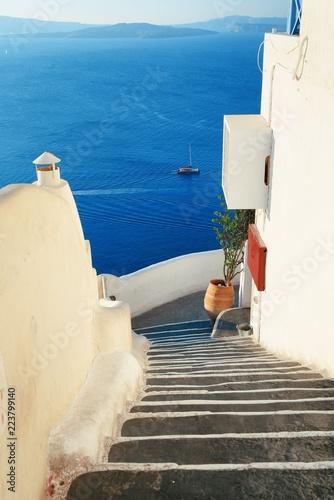 Santorini island street view