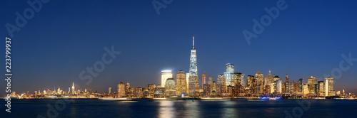 New York City skyline at night - 223799937