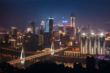 Chongqing bridge night