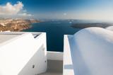 White architecture on Santorini island, Greece. - 223810755