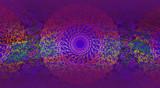 Abstract ethno dark violet background - 223828317