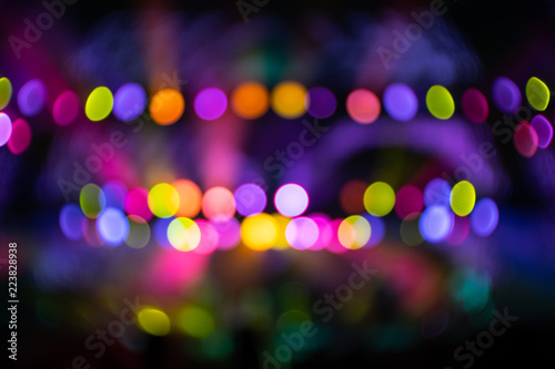 Abstraction with blurry colorful light circles - 223828938